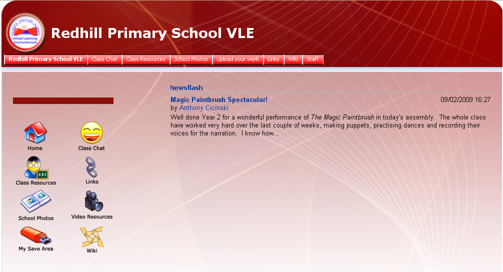 virtual learning environment and high school