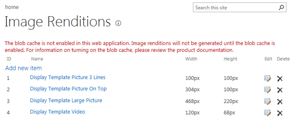 Image Renditions Error SharePoint 2013