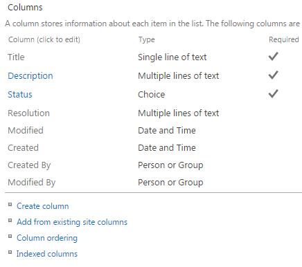 SharePoint App Columns