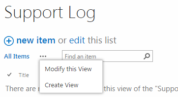 SharePoint 2013 list view