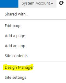 SharePoint menu