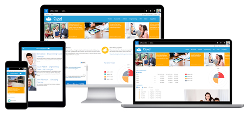 Office 365 responsive design and display templates business