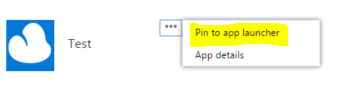 pin to app launcher
