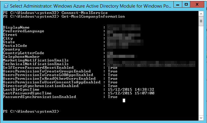 Azure Connect PowerShell