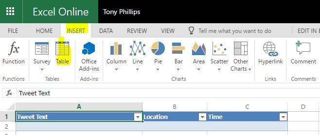 Microsoft Excel Online
