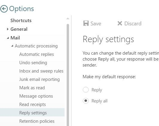 Reply settings