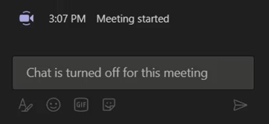 Turn off chat function in Class Teams before your lesson.