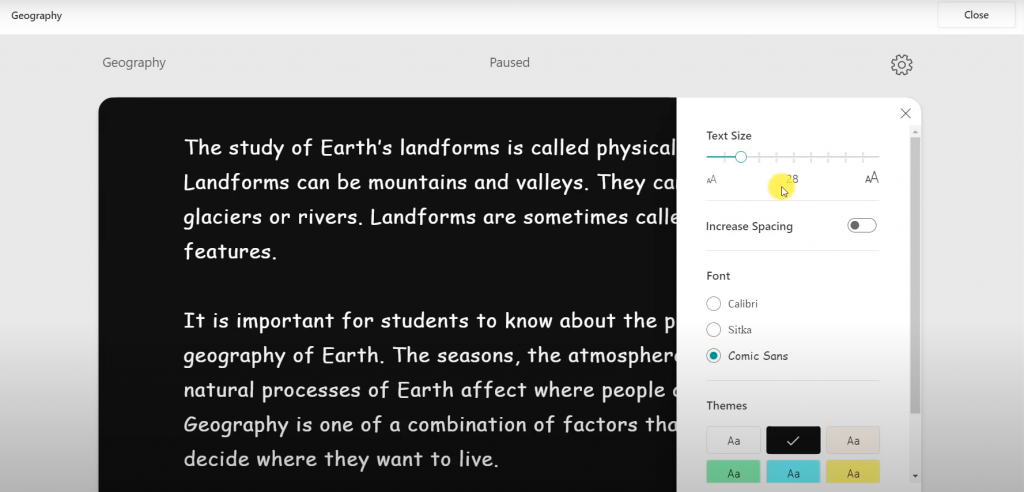 Reading Progress in Microsoft Class Teams with Immersive Reader