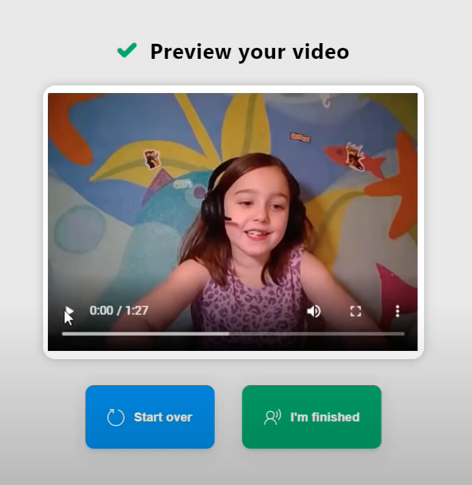 Reading Progress in Microsoft Class Teams student view - playback the video