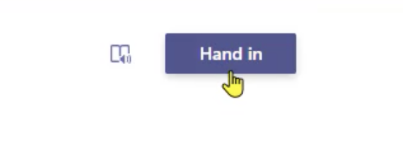 Handing in a reading progress assignment in Microsoft Teams